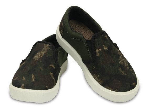 Panchas Crocs Niños Citilane Novelty Slipon Snkr K Camo