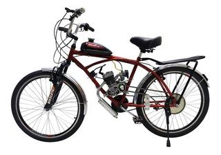 Bicicleta Motorizada Caiçara Sport Com Suspensão 80cc
