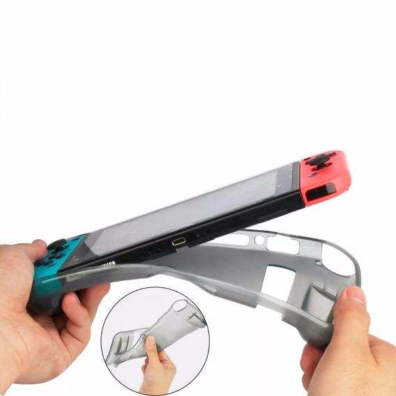 1 Capa Tpu Case Proteção Ergonômica Silicone Switch Nova Cap