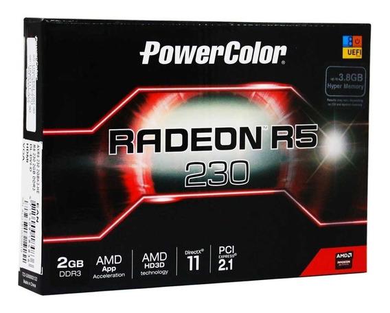 Placa De Vídeo Radeon R5 230 2gb Ddr3 Hdmi Dvi Vga 2gbk3-he