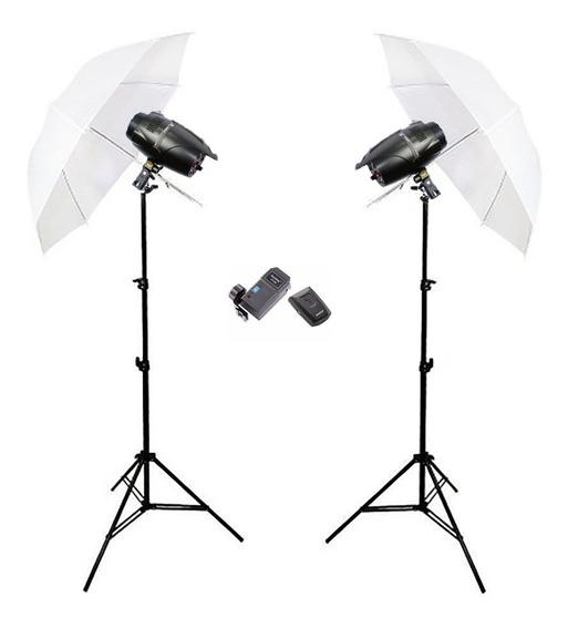 Estudio Fotografico 500w Profissional Greika Argos 110v Somb