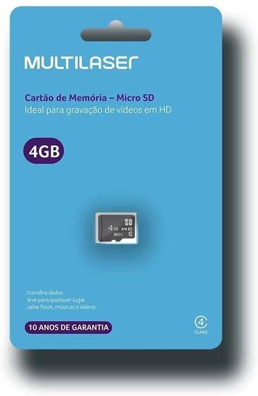 Cartão De Memória Classe 4 4gb Preto Multilaser Mc144