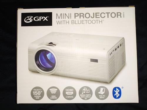 Mini Video Beam Proyector Marca Gpx Con Bluetooth