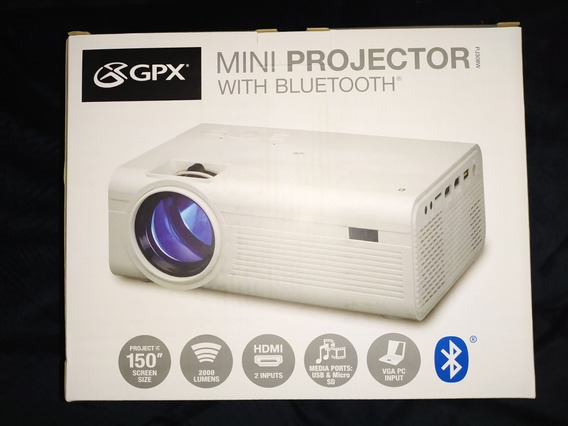 Mini Video Beam Proyector Marca Gpx Con Bluetooth