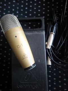 Microfono Behringer C1+interface+pedestal+araña+cable Xlr