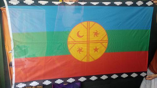 Bandera Mapuche 90 X 150cm Oficial Refuerzo Y Sogas