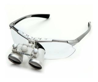 Óculos Cirúrgico Com Lupa 3,5x 420mm Para Medico E Dentista