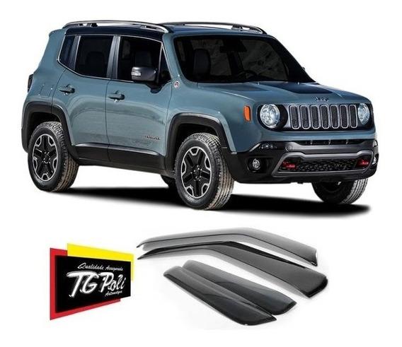 Calha Defletor Chuva Jeep Renegade 4 Pts 15/19 Tg Poli