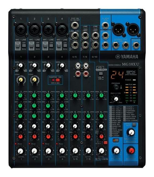 Mesa Mixer De Som Yamaha Mg10xu 10 Canais 1 Ano Garantia Nfe