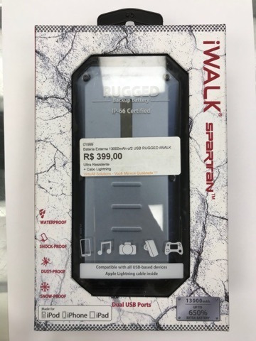 Bateria Externa 13000mah Com 2 Usb - Rugged Iwalk