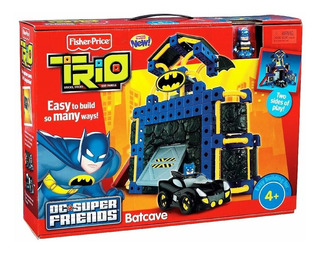 Batman Fisher-price Trio Dc Super Amigos Baticueva