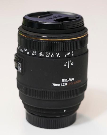 Lente Sigma 70mm F2.8 Ex Dg Macro Para Nikon