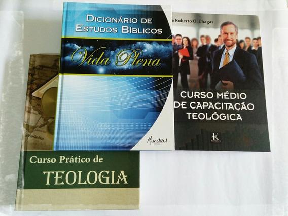 Kit. De Material Teológico+livros+dvd De Áudio Em Mp3