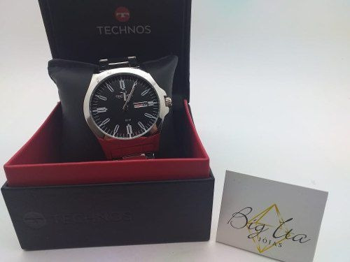 Relógio Technos Masculino Prateado Promoção - 2305ax/1p