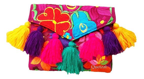 Bolsa Clutch Chiapas Artesanal Bordada Mexicana