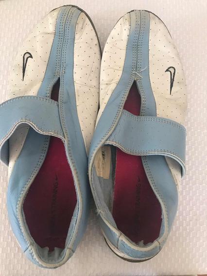 Zapatillas Nike Yoga Celeste Y Blanco Talle 40 Baratas Sale