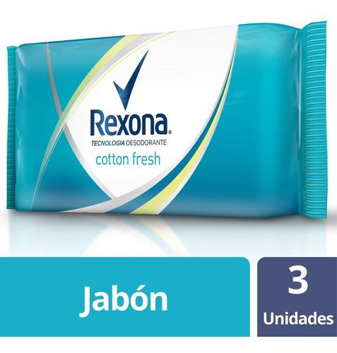 Rexona Jabon Tocador 3 X 125g Cotton Fresh