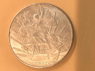 Moneda 1 Peso Mexicano 1914