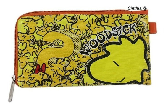 Bolsinha Carteira Estojo Woodstock Snoopy Acolchoada - Orig.