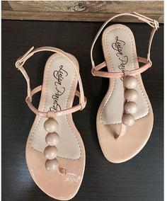 Sandalia Rasteira Com Bolinha De Abs Luiza Paula Shoes Nude