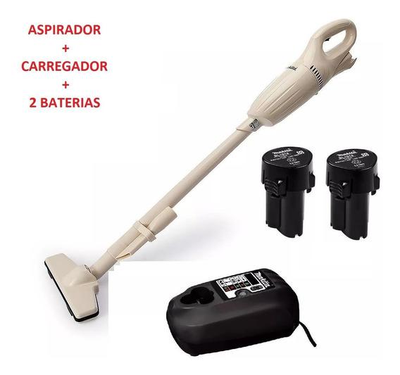 Aspirador De Pó 12v Makita Com Carregador Bivolt E Bateria
