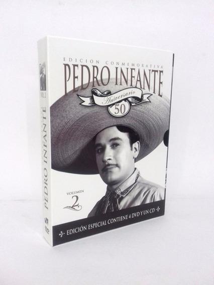 Pedro Infante 50 Aniversario Volumen 2 Boxset 4 Dvd + Cd