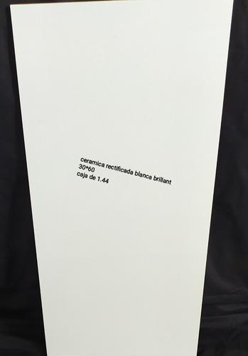 Cerámica Rectificada Blanco Brillante 30*60