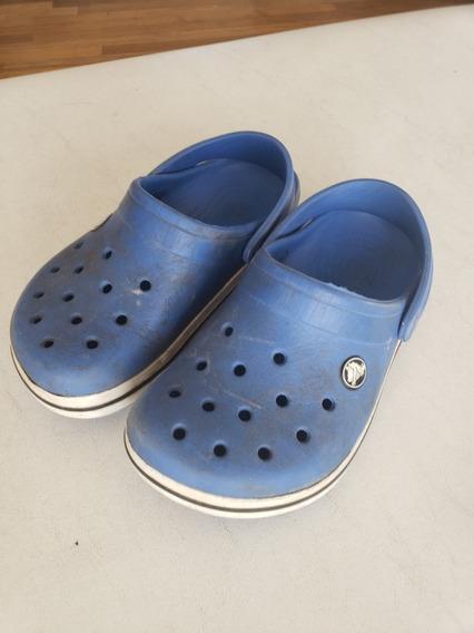 Crocs Azules Con Banda Niños Talle 32 Aprox