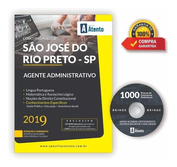 Apostila Agente Administrativo Prefeitura Rio Preto 2019