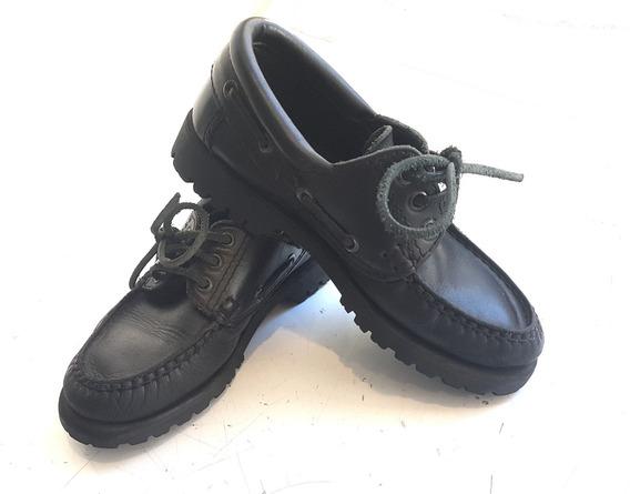 Zapatos Escolares Febo Timber Negros Talle Aprox 30-31 20cm