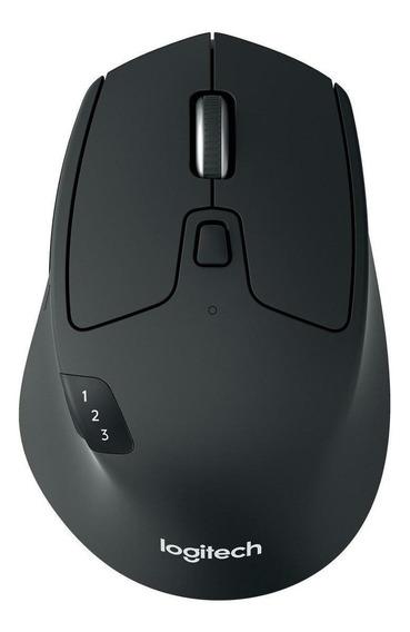 Mouse sem fio Logitech Triathlon M720 preto