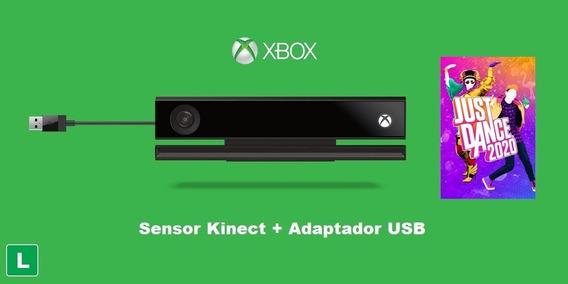 Kinect Xbox One Com Adaptador Usb X E S + Just Dance 2020