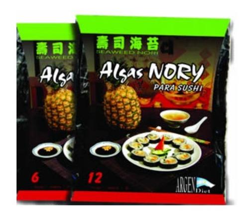 Imagen 1 de 4 de Algas Para Sushi Por 12 Laminas