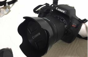 Canon T6i + Lente 18 55 Mm + Carregador Com Duas (2) Bateria