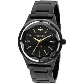 Relógio Technos Preto Feminino Elegance Crystal 2035mib/4p