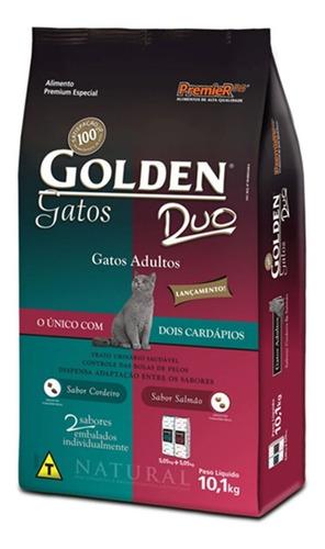 Ração Golden Premium Especial Duo para gato adulto sabor cordeiro/salmão em saco de 10.1kg