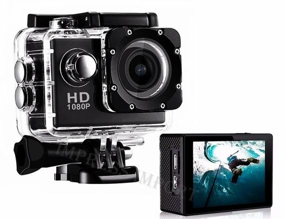 Sports Cam Câmera Filmadora A Prova Dágua Capacete Hd 1080p