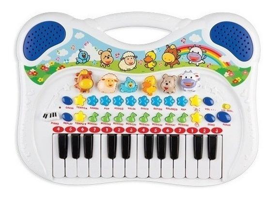 Piano Teclado Musical Fazendinha Animal Infantil Bebê