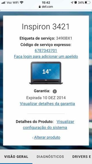 Notebook Dell Inspiron 3421 (para Desmontar)