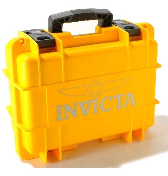 Maleta Case Invicta Amarela - 8 Slots - Importada Eua