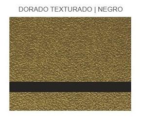 Plancha Placa Laserable Econoply Oro Texturado/negro 60x40cm
