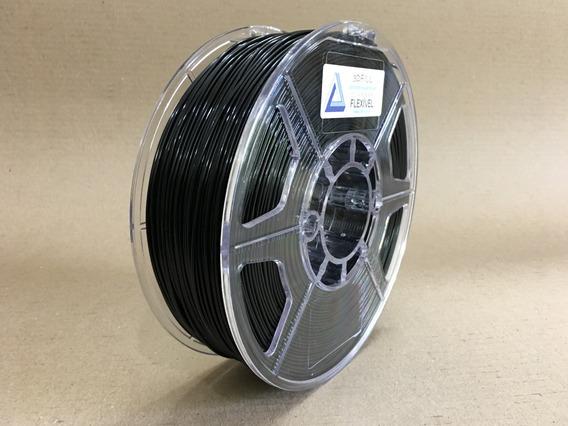 Filamento 3d Flexível Tpu Preto -1,75mm -1kg - Frete Grátis