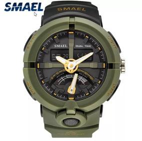Relógio Militar Smael Army Green - S Shock - Frete Grátis