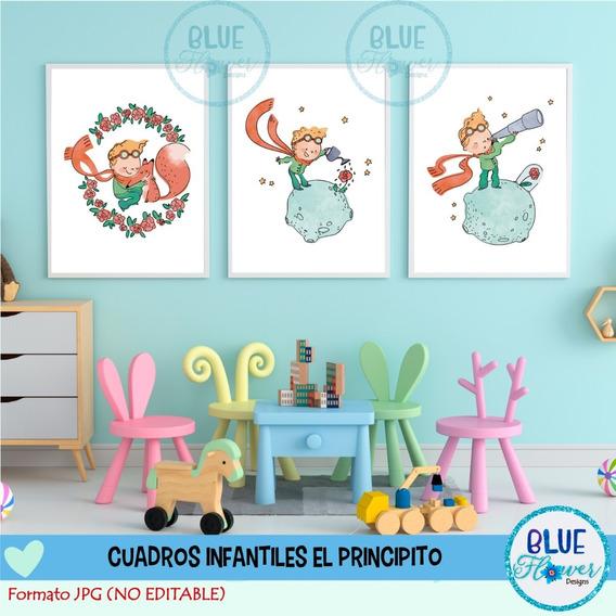 Laminas Cuadros Infantiles X3 Imprimibles El Principito Jpg