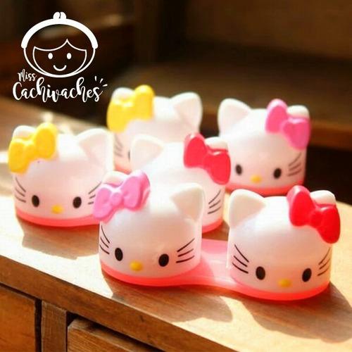 Imagen 1 de 1 de Porta Lentes De Contacto De Hello Kitty
