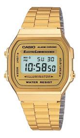 Relogio Casio Cor Ouro +caixa - Promoção Ca01