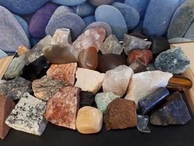 Lote 36 Cristais E Pedras De Coleção Minerais Naturais 2kg