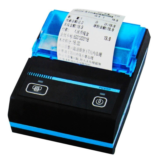 Mini Impressora Térmica Bluetooth Portatil 48 Mm Android Ios