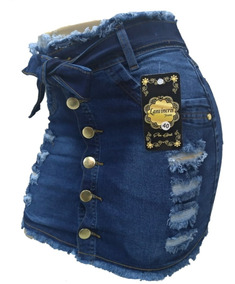 Roupas Femininas Saia Jeans Plus Size Com Lycra 36 Ao 54