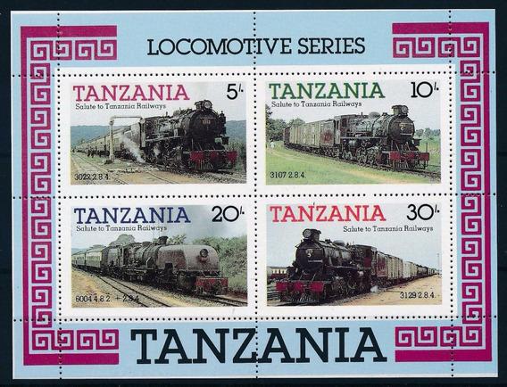 Tanzania 1984 Trenes Serie Completa Mint En Hb